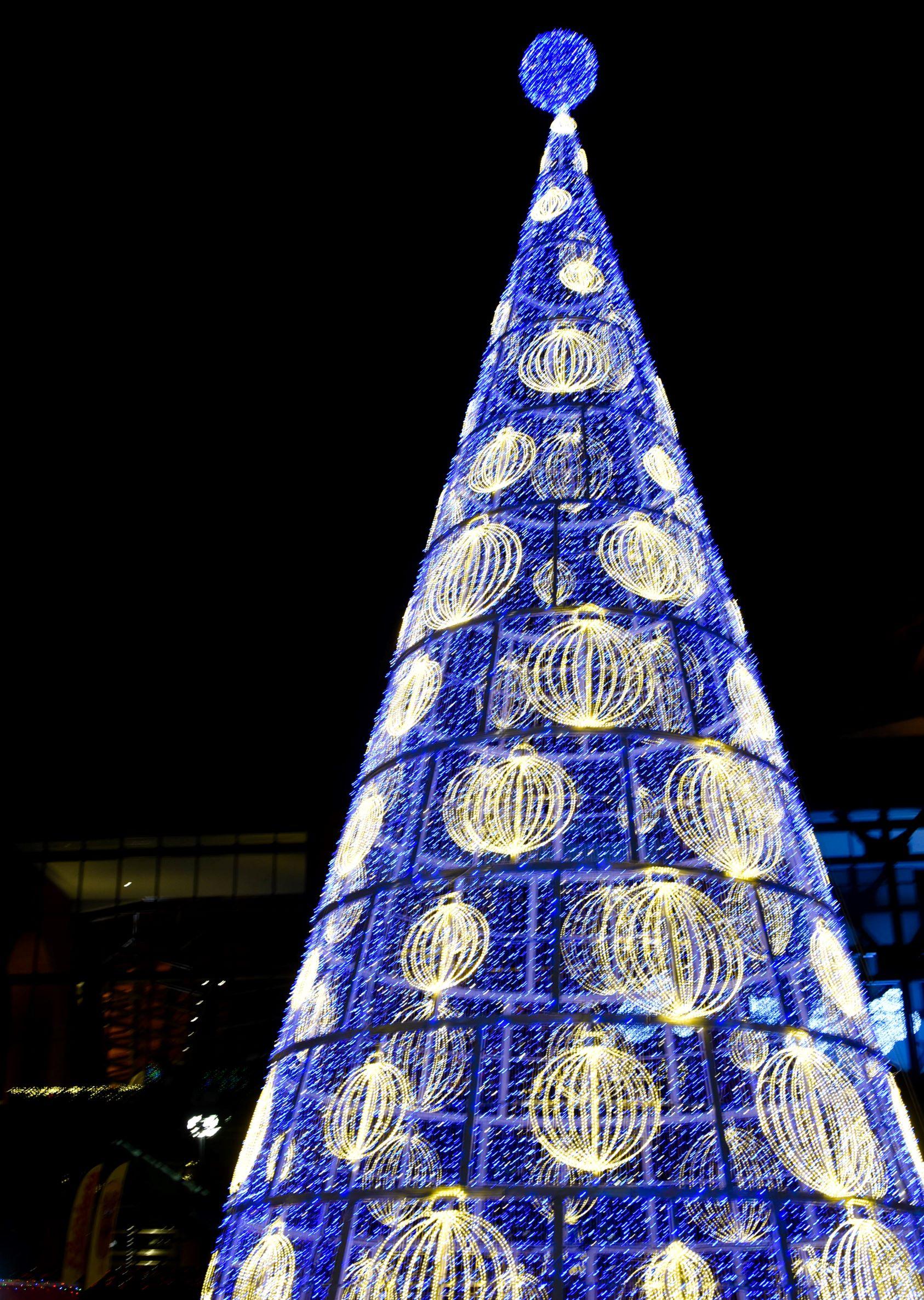 65 ft lighted Christmas Tree