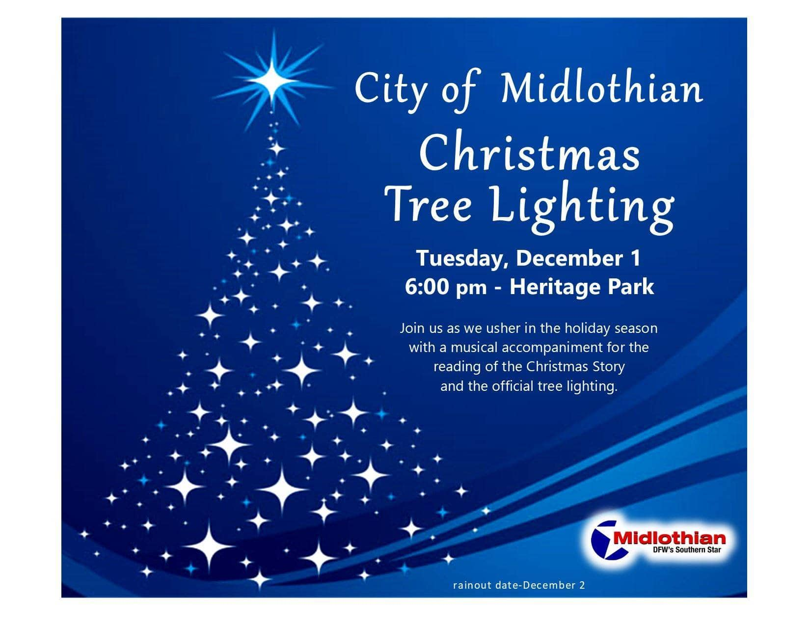 Midlothian Tree Lighting flyer