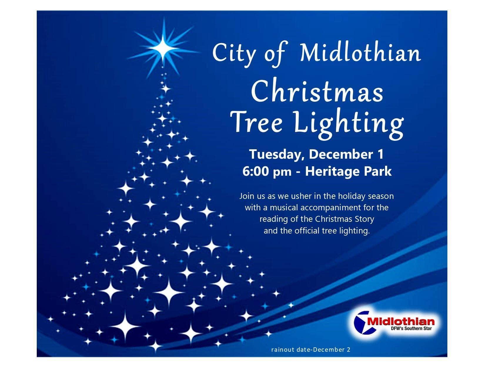 Midlothian Tree Lighting flyer