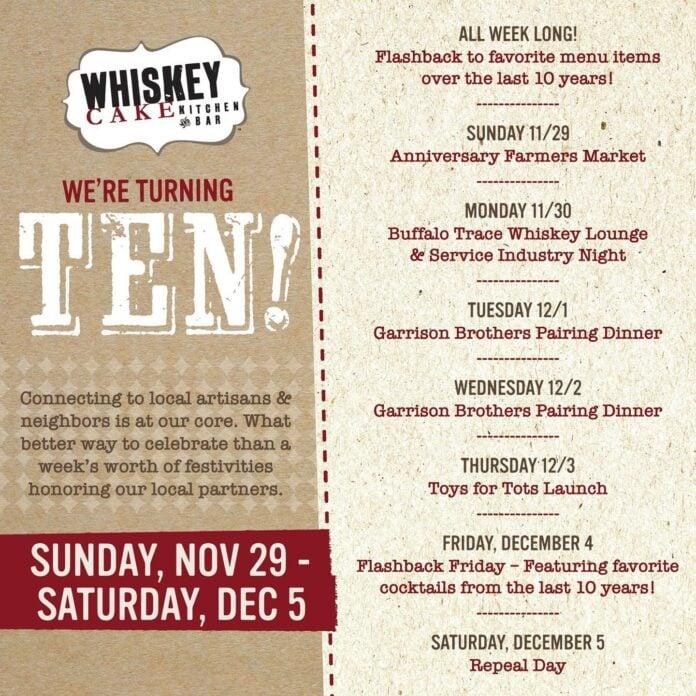 Whiskey Cake flyer