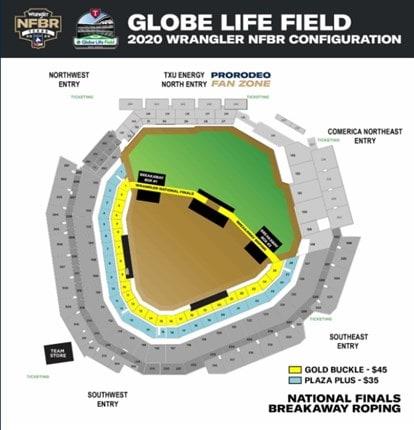 map of globe life field
