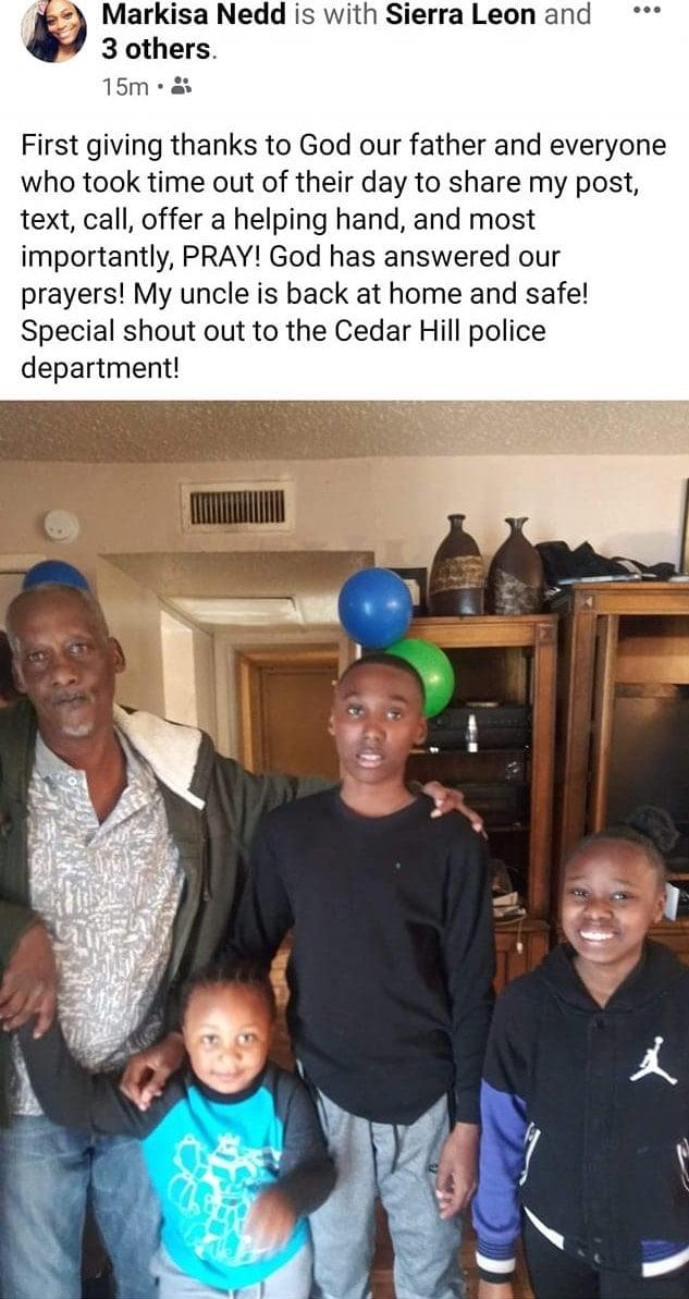 Missing Man Cedar Hill