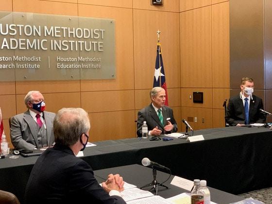 Governor Abbott in Houston