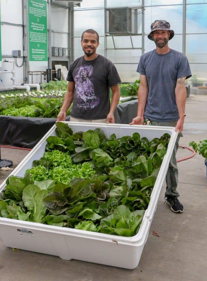 Big Tex Urban Farms donate produce