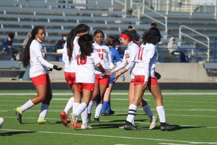 Cedar Hill girls soccer team