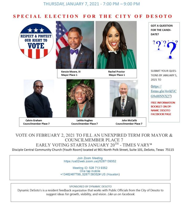 Dynamic DeSoto Candidate flyer