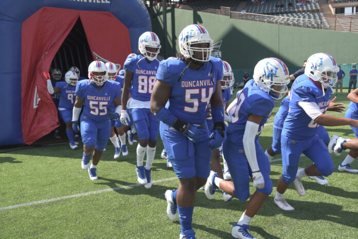 Duncanville football players