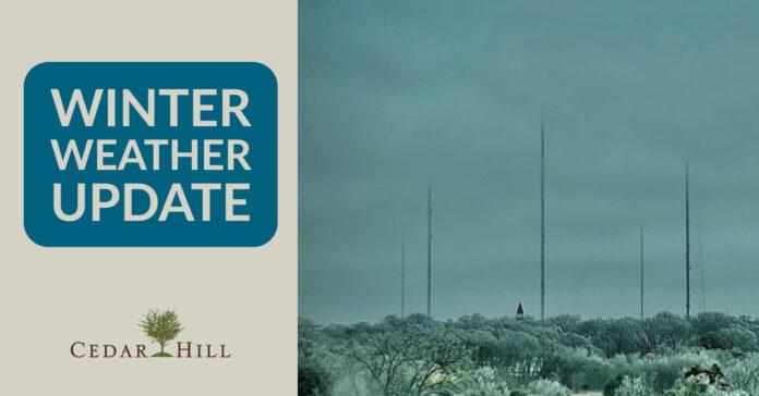 Cedar Hill weather update
