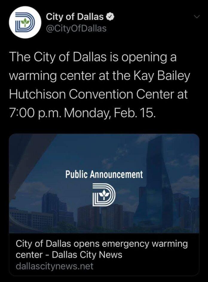 Dallas warming center