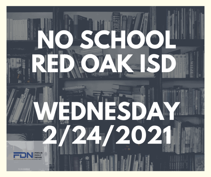 Red Oak ISD no school