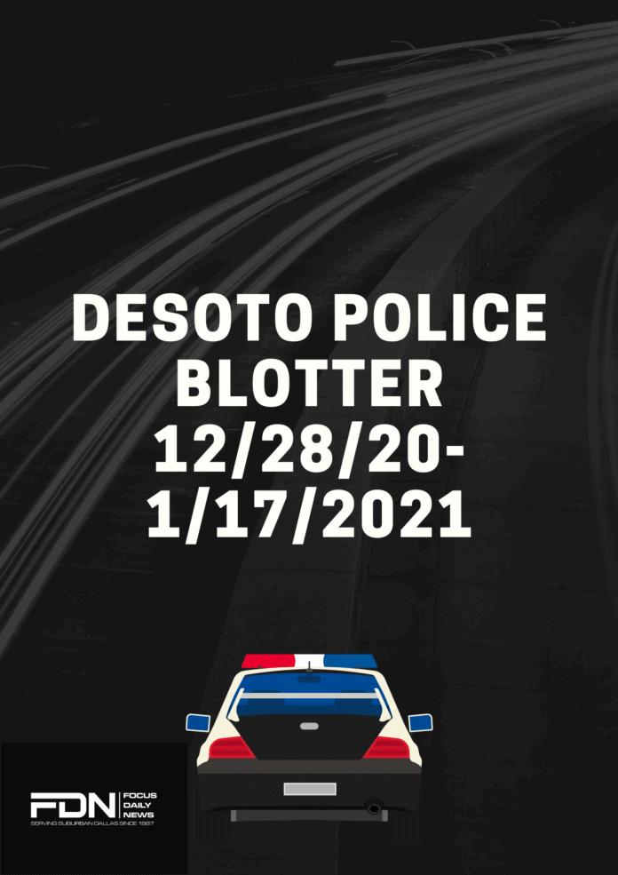 DeSoto police blotter