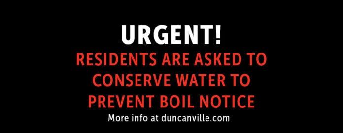 Duncanville water notice
