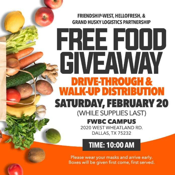 Food Giveaway flyer