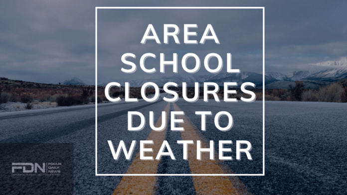 AREA SCHOOL CLOSURES POSTER