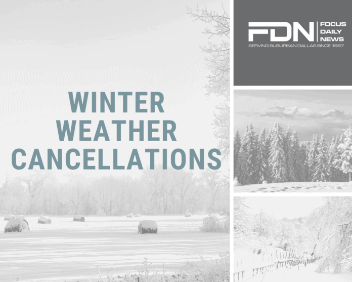 Winter weather cancellations