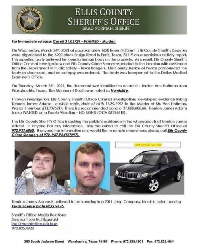 Ellis County press release