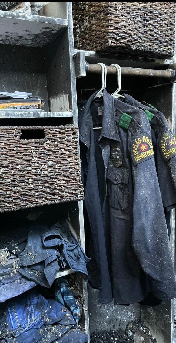 Police uniforms damaged