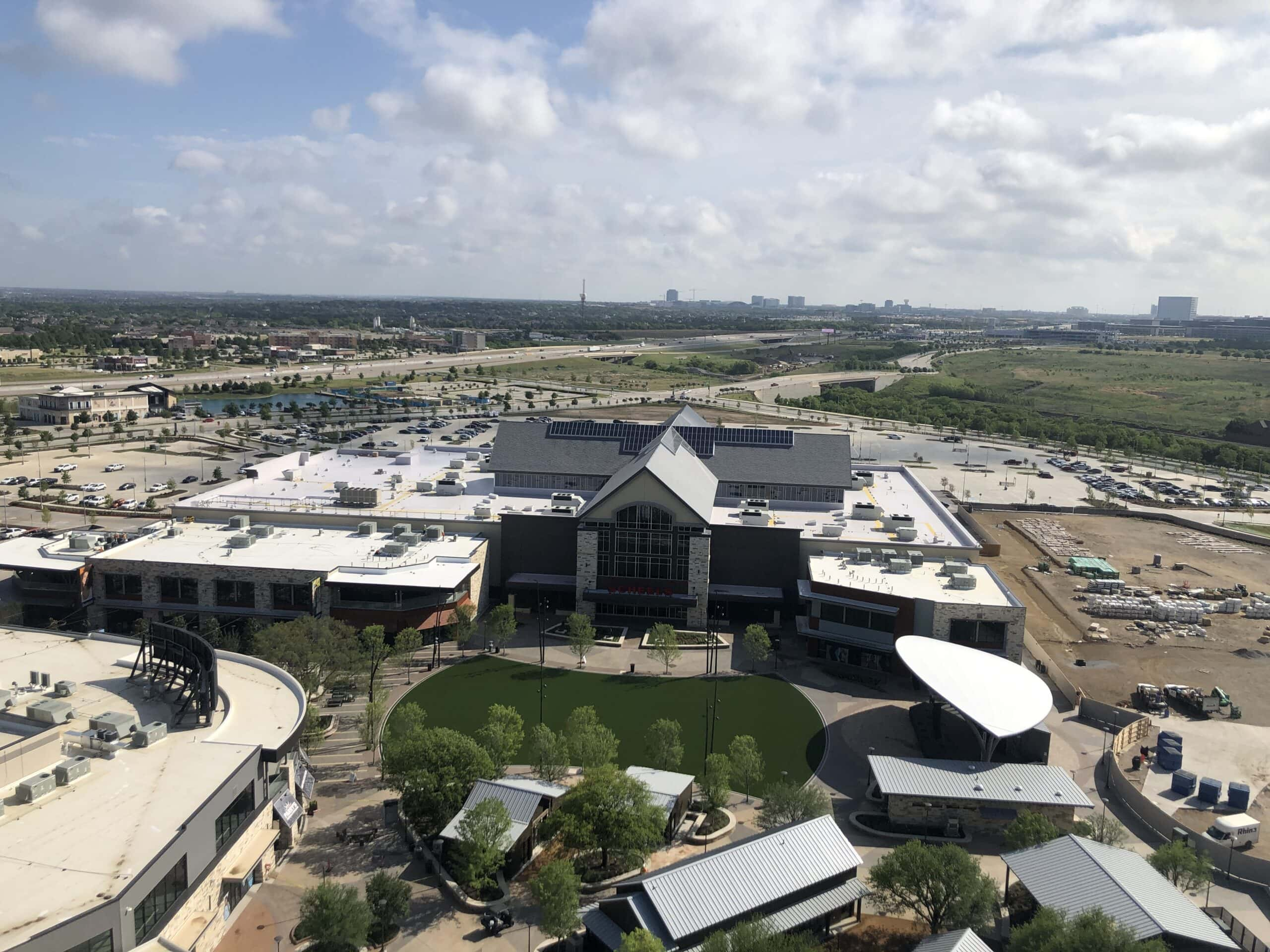 Aerial view pf lawn