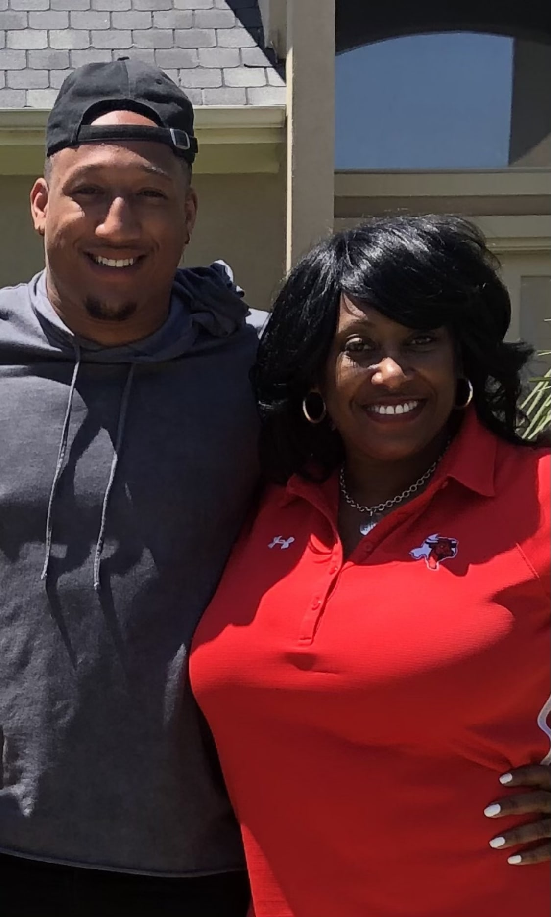 Trevis Gipson with Mom