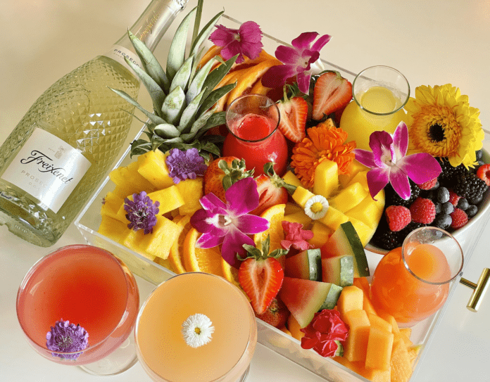 drinks and fruit
