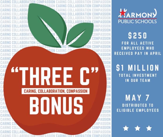 three c bonus graphic