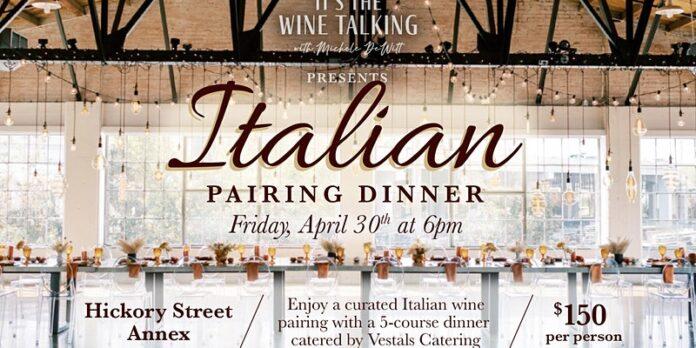 Italian pairing dinner