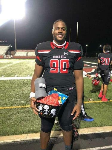 Syncere Massey in football uniform