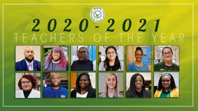 DeSoto ISD 2020 2021 teachers of year