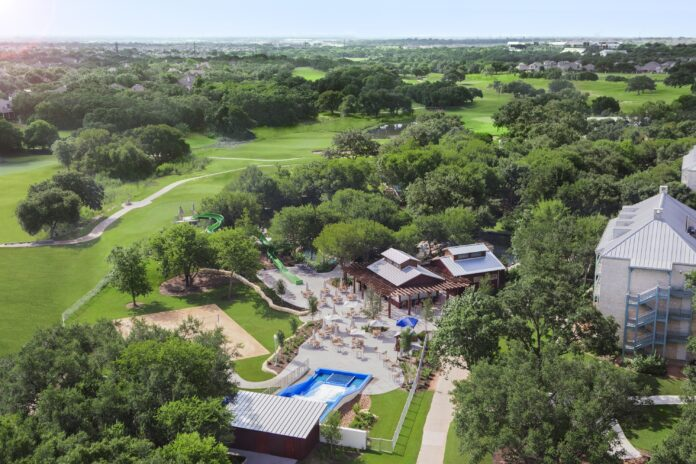 aerial view Hyatt Hill Country