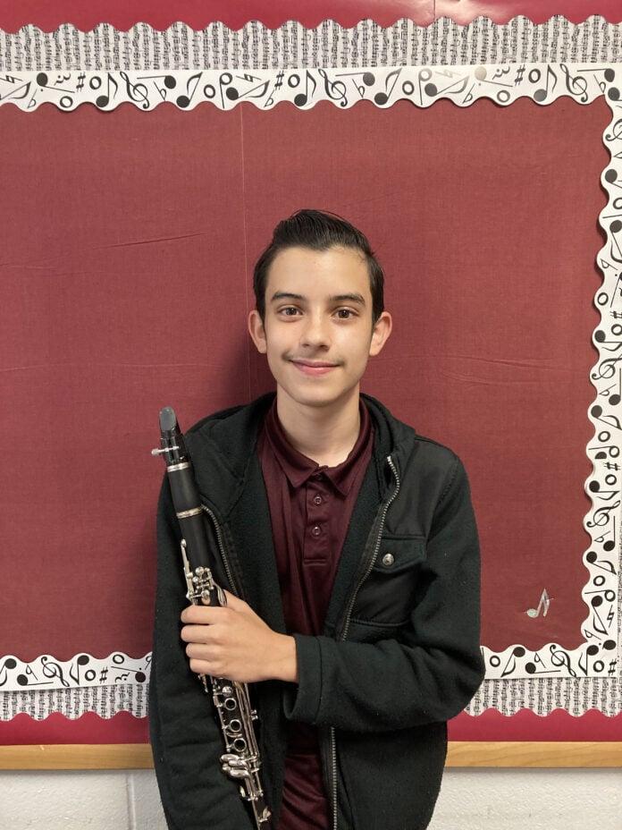 John Dunnachie with clarinet