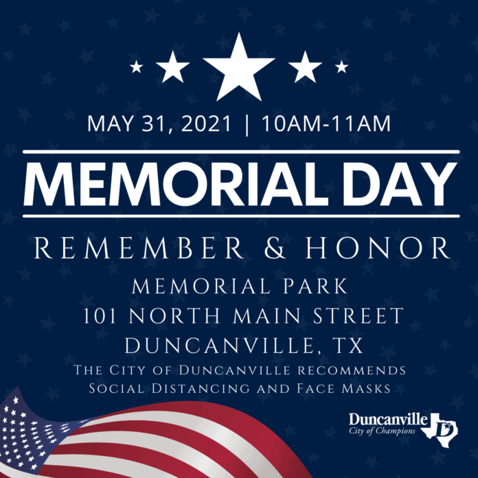 Duncanville holds Memorial Day program May 31