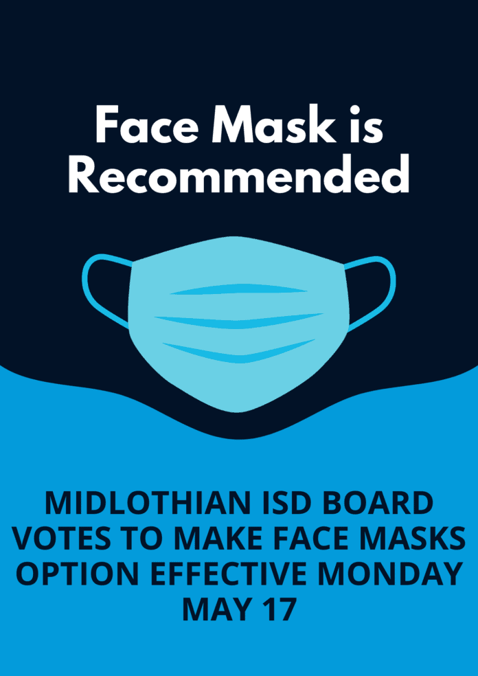 Face Mask recommended poster