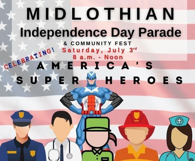 Midlothian Independence Day Parade poster