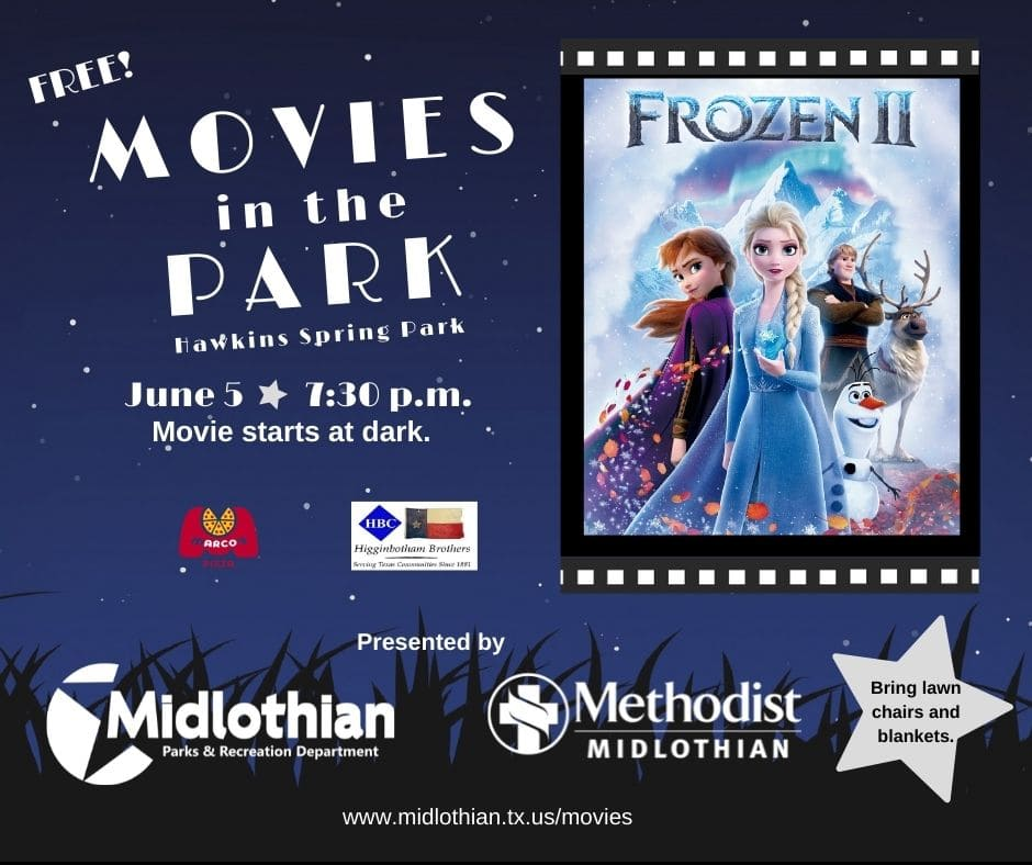 Midlothian movies in the park poster