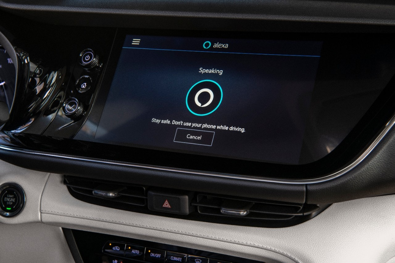 Infotainment screen in Buick Envision
