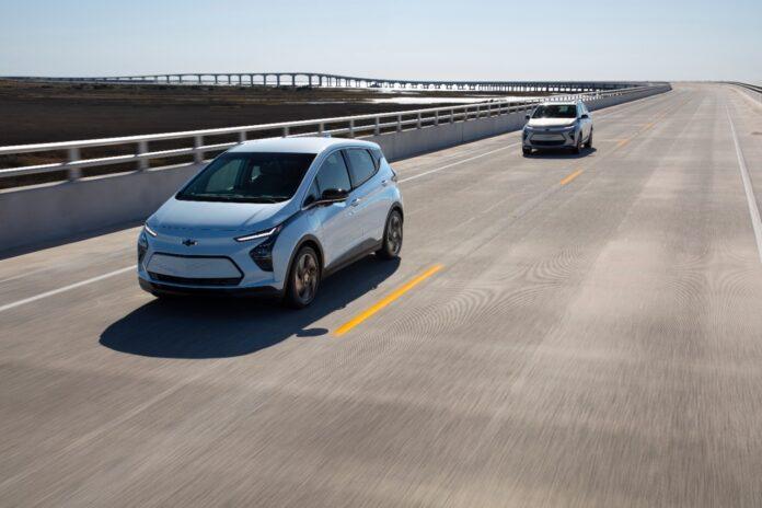 2022 Bolt EV on the road