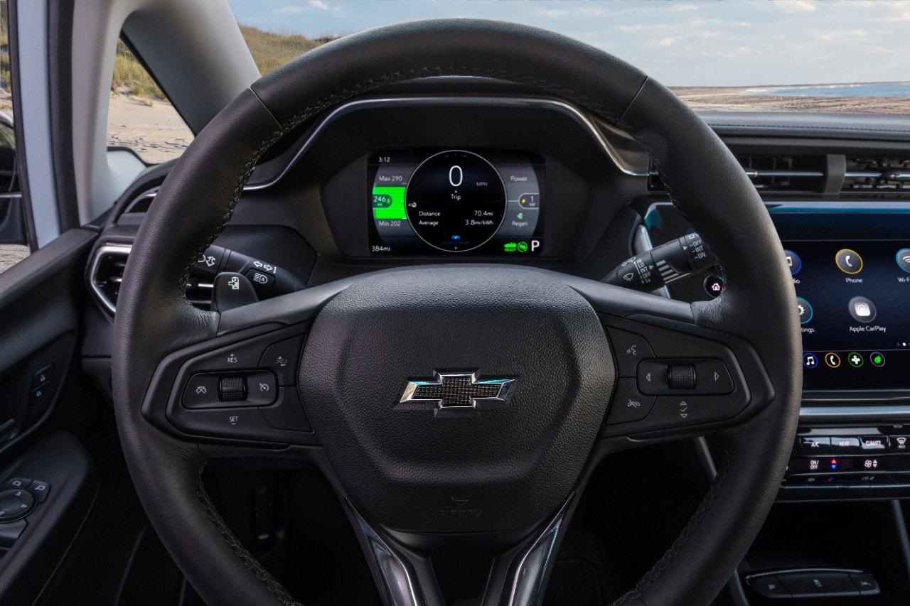 Bolt EV steering wheel