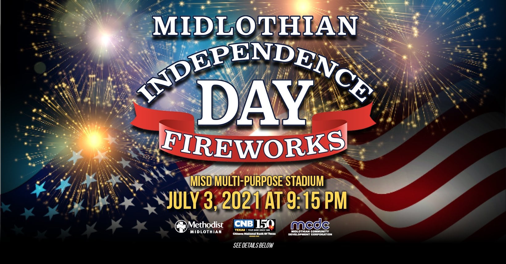 Midlothian 4th of July poster