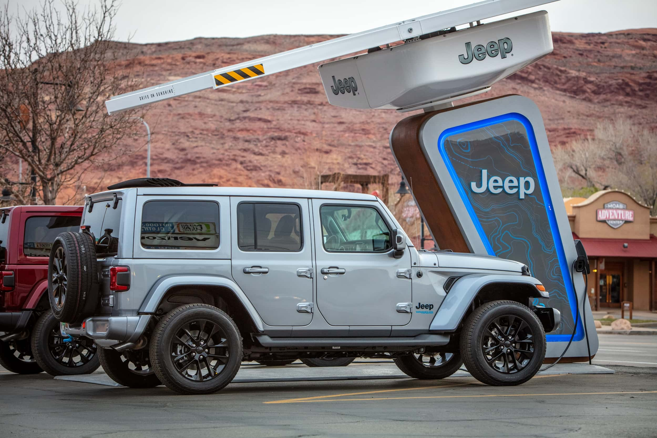 Jeep at charging station