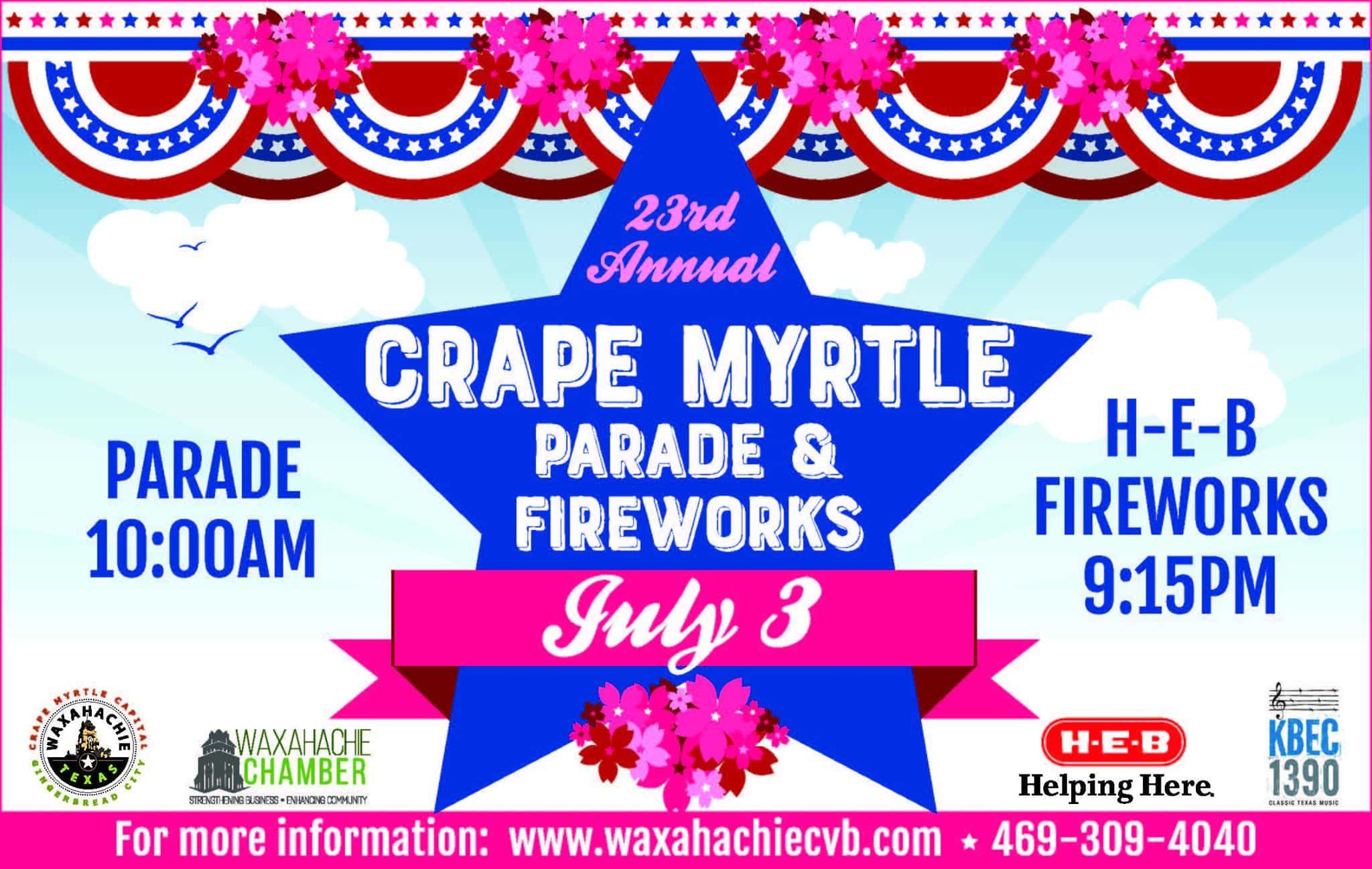 Crape Myrtle Parade poster