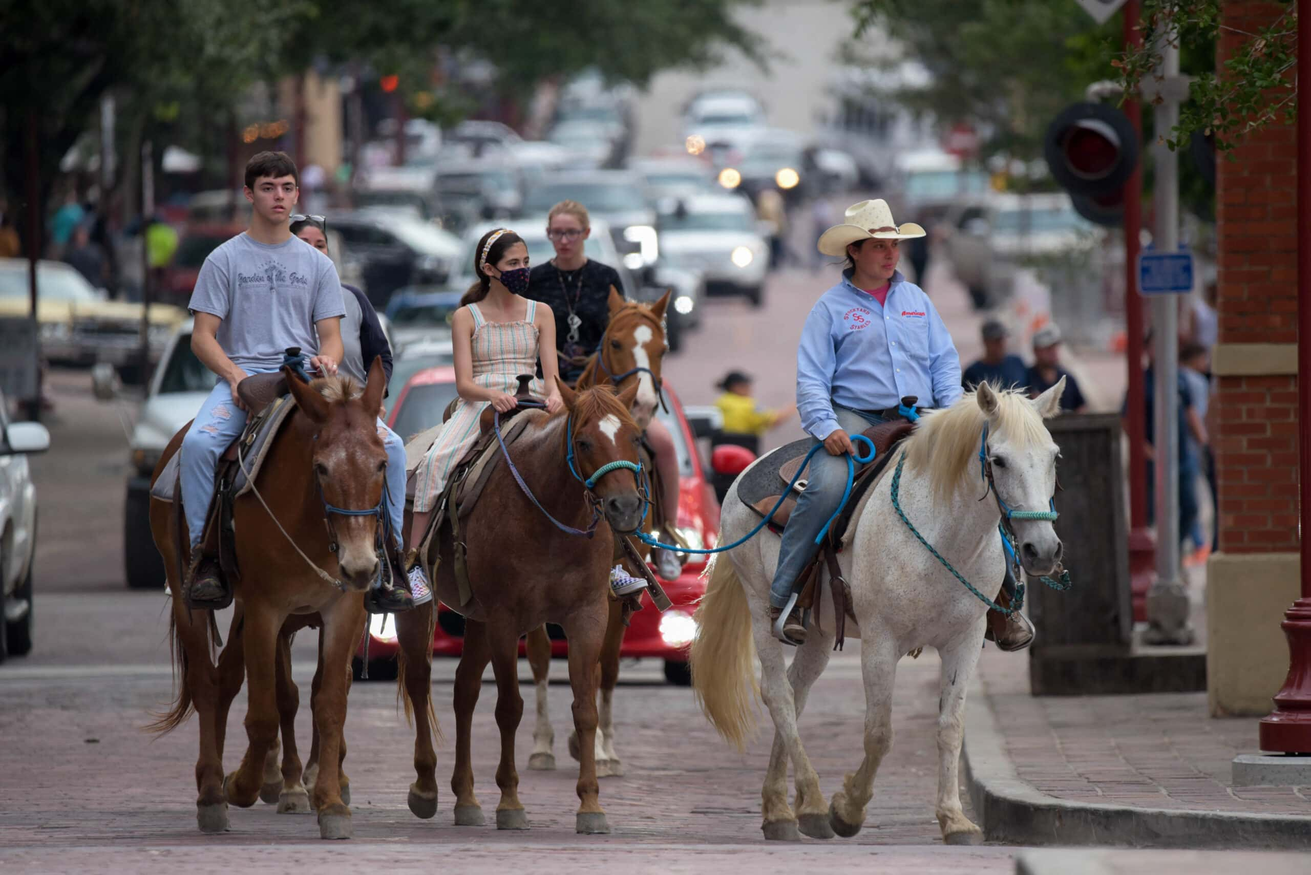 people on horseback in Ft. Worth