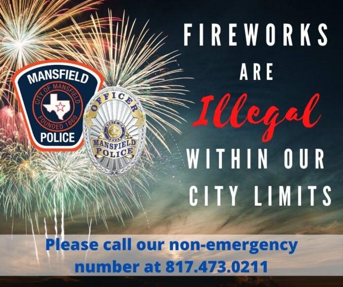 Fireworks illegal poster