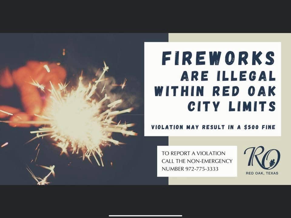 Red Oak fireworks poster