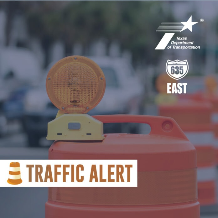 Traffic alert poster