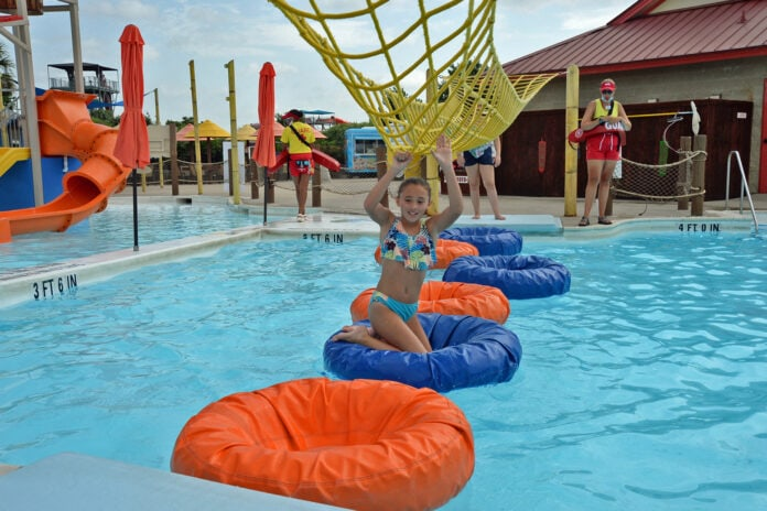 obstacle course in water