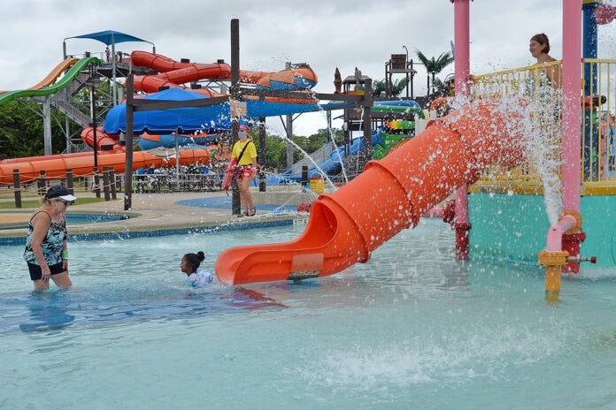 orange water slide