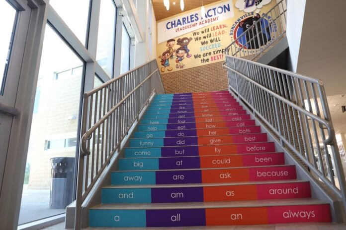 stairway at acton leadership academy