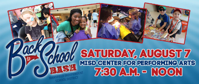 Mansfield back to school bash poster