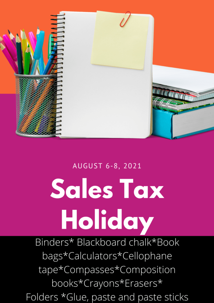 sales tax holiday poster