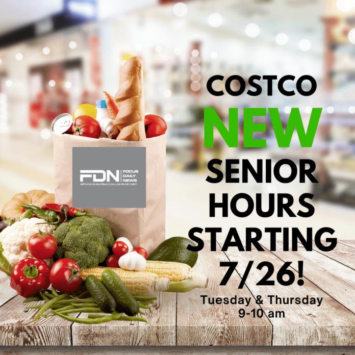 Costco senior hours poster